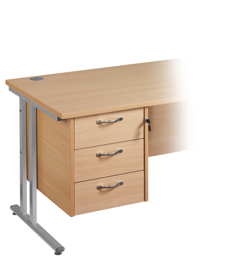 2 And 3 Drawer Fixed Pedestal Central Office Furniture